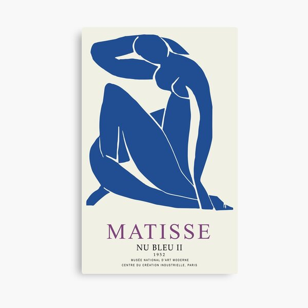 Henri Matisse Nu Bleu II (Blue Nude II) 1952 Artwork for Wall Art, Prints, Posters, Tshirts, Men, Women, Youth Canvas Print