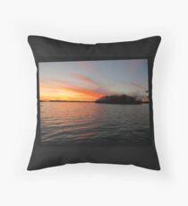 Rocket Powered Island Throw Pillow
