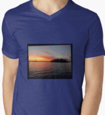 Rocket Powered Island Mens V-Neck T-Shirt