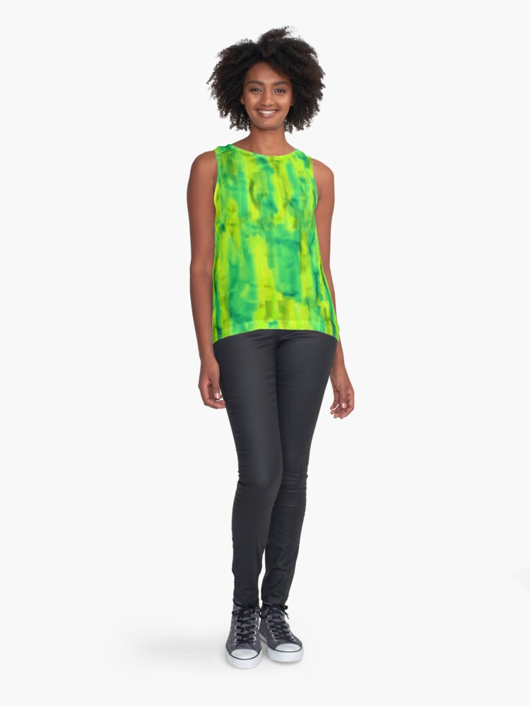 Alternate view of Citrus abstract marker texture as a seamless surface pattern design Sleeveless Top