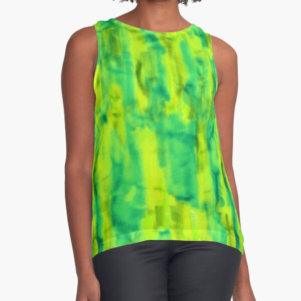 Citrus abstract marker texture as a seamless surface pattern design Sleeveless Top