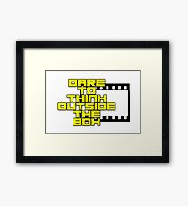Dare to Think Outside the Box Framed Print