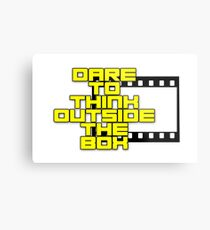 Dare to Think Outside the Box Metal Print