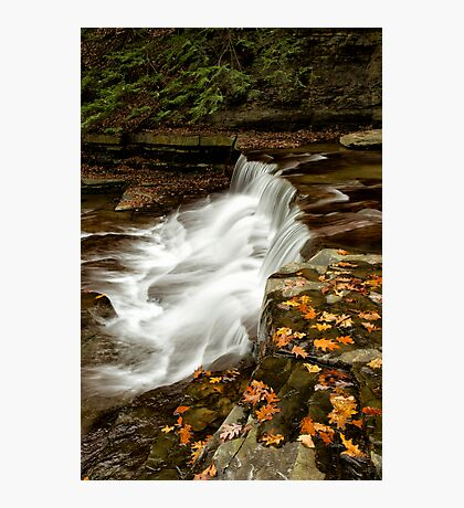 Autumn Cascade Photographic Print