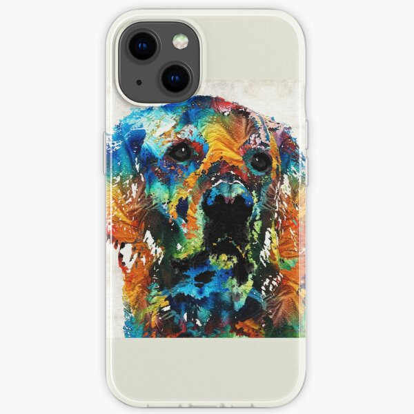 Colorful Dog Art - Heart And Soul - By Sharon Cummings iPhone Soft Case