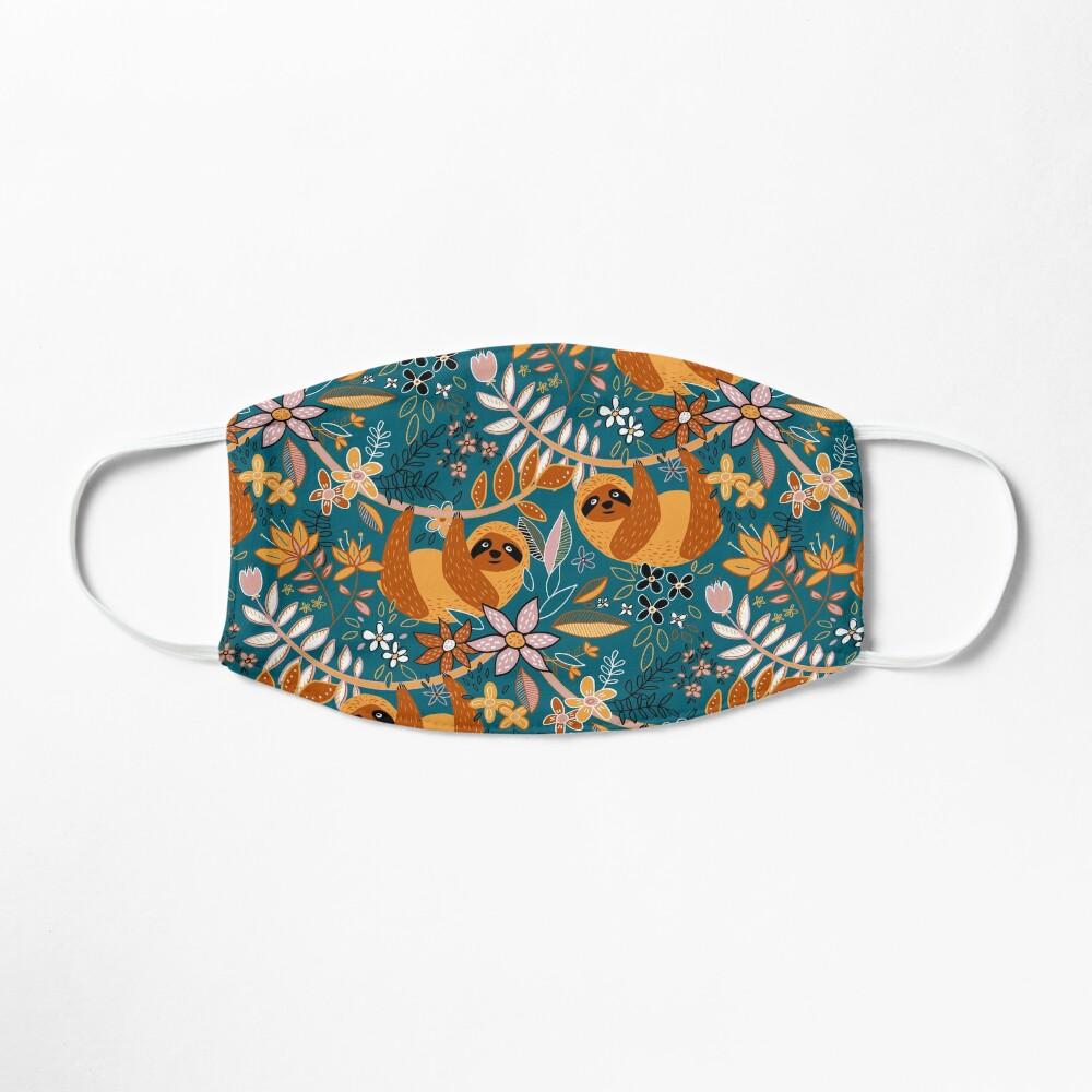 Happy Boho Sloth Floral  Mask