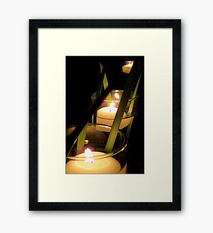 By the Flickering Light ~ Framed Print