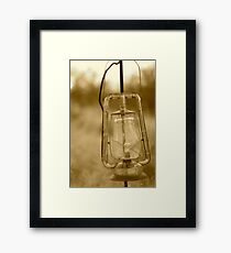 old lantern Framed Print