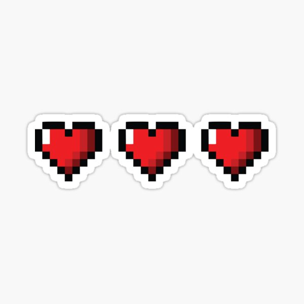 Full Life Video Game Hearts Sticker