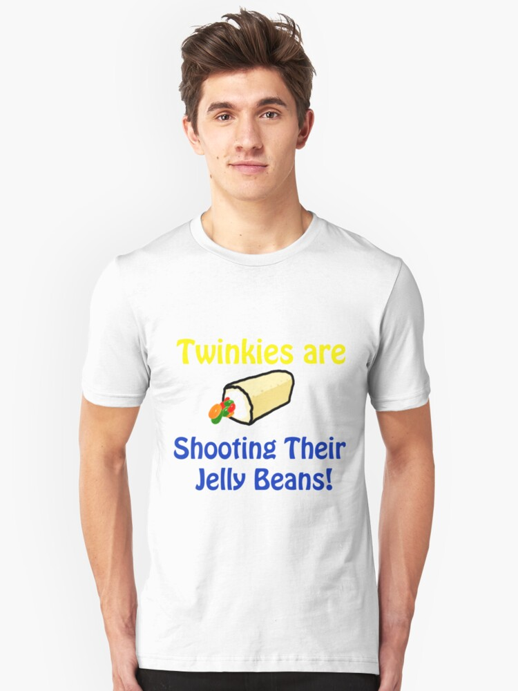 Twinkies are shooting their Jelly Beans T-Shirt Unisex T-Shirt Front