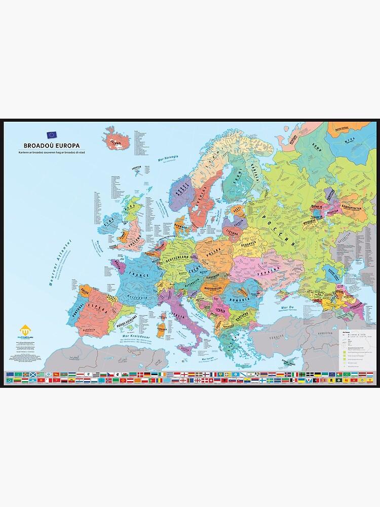 """«""""Broadoù Europa"""" : Carte des nations historiques d'Europe (en breton)» par Multinatio"""