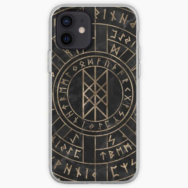 Web of Wyrd The Matrix of Fate- Marble and gold iPhone Soft Case