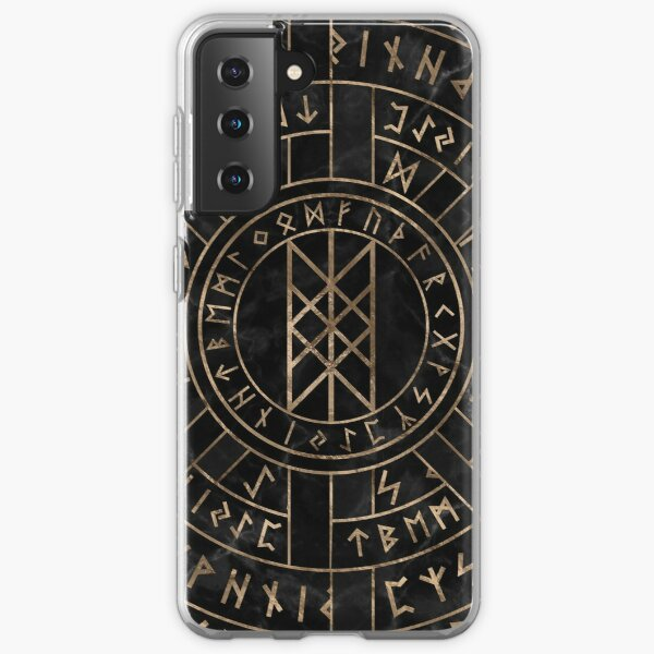 Web of Wyrd The Matrix of Fate- Marble and gold Samsung Galaxy Soft Case