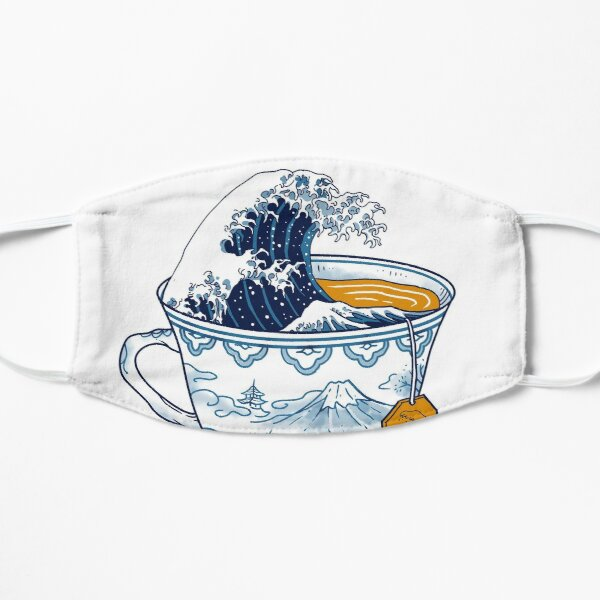 The Great Kanagawa Tea Flat Mask