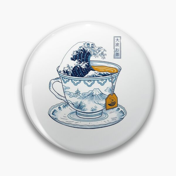 The Great Kanagawa Tea Pin