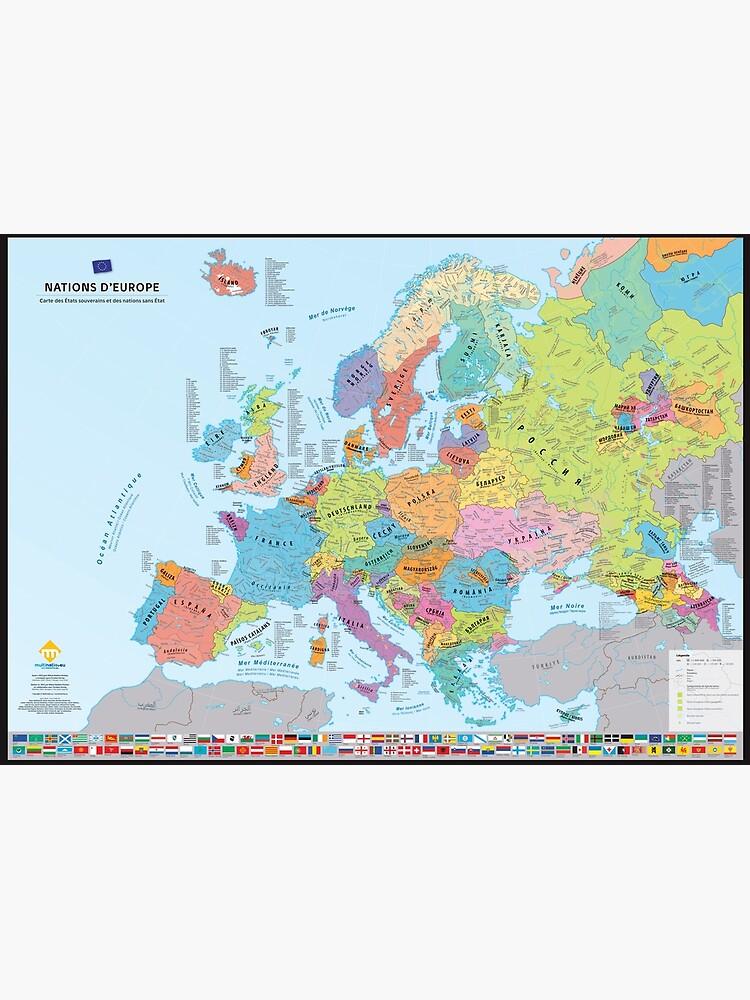 """«""""Nations d'Europe"""" : Carte des nations historiques d'Europe (en français)» par Multinatio"""