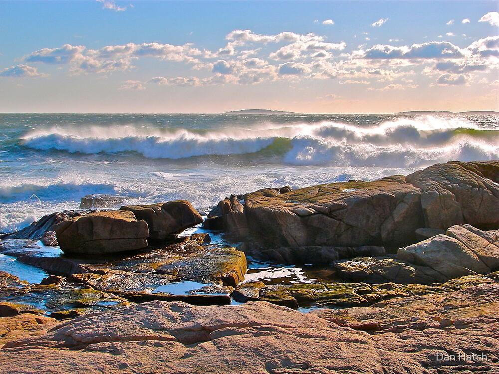Surf at Seawall, Acadia National Park, ME by Dan Hatch