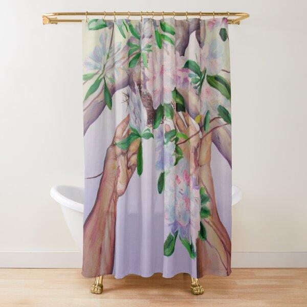 Acceptable Sacrifice (rhododendron bleeding hands) Shower Curtain