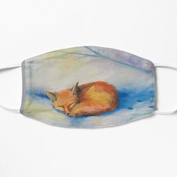 Snow Nap Sleeping Fox Mask