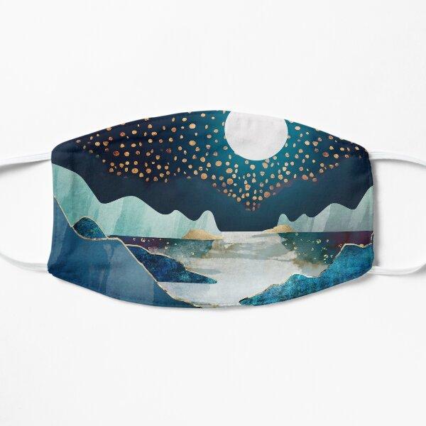 Blau und Sterne Flache Maske