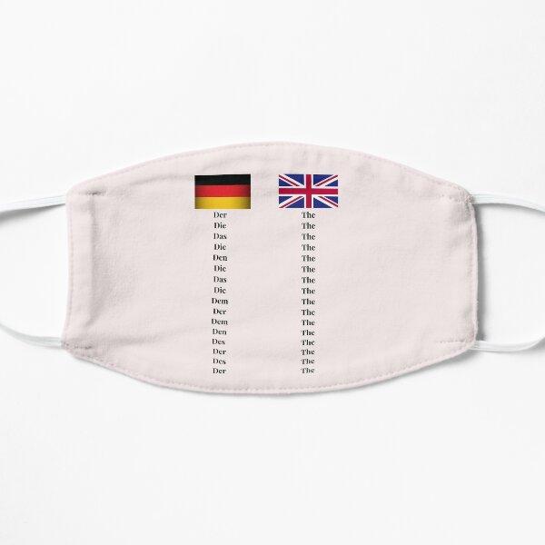 German Words for 'The' Design UK Flag Definite Article Mask