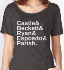Castle & Beckett & Ryan & Esposito & Parish Women's Relaxed Fit T-Shirt