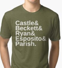 Castle & Beckett & Ryan & Esposito & Parish Tri-blend T-Shirt