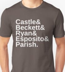 Castle & Beckett & Ryan & Esposito & Parish Unisex T-Shirt