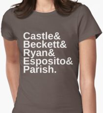 Castle & Beckett & Ryan & Esposito & Parish Women's Fitted T-Shirt