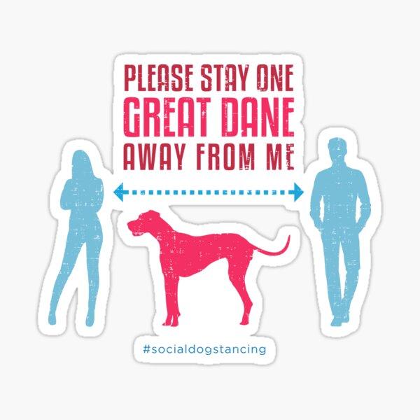 Great Dane Social Distancing Guide Sticker