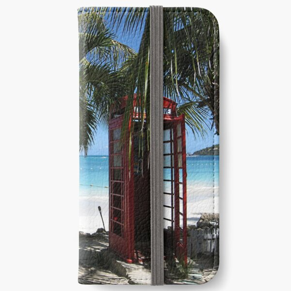 Antigua Red Phone Box iPhone Wallet