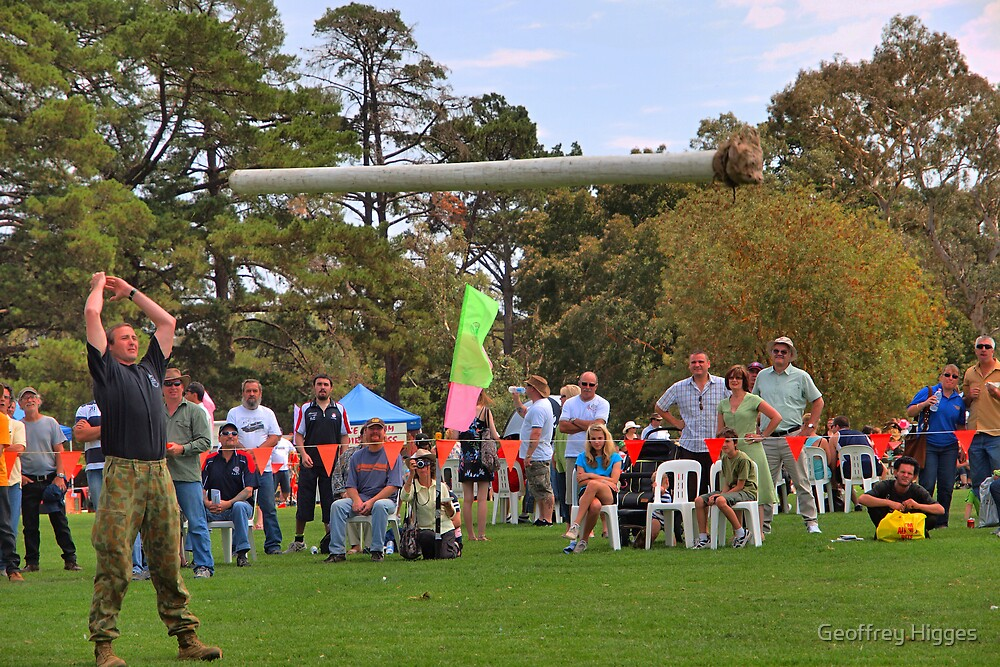 Highland Games - Tossing the Caber by Geoffrey Higges