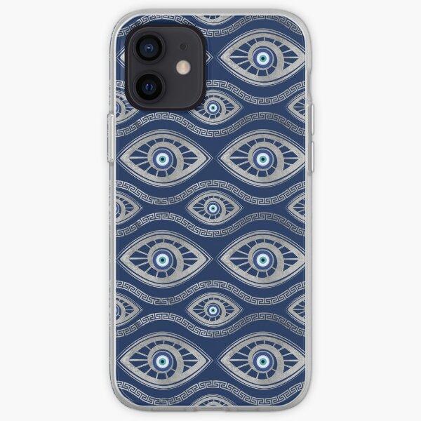 Greek Mati Mataki - Matiasma Evil Eye Pattern #5 iPhone Soft Case