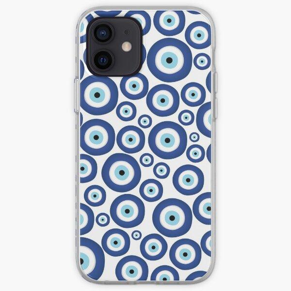 Greek Mati Mataki - Matiasma Evil Eye Pattern #1 iPhone Soft Case
