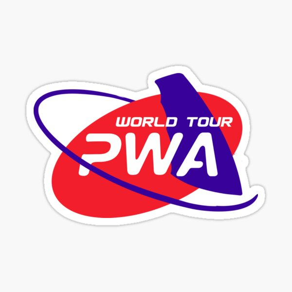 PWA windsurf world cup Sticker fini brillant