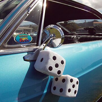 Double Dice 5x5 Classic Car fuzzy white by zavi