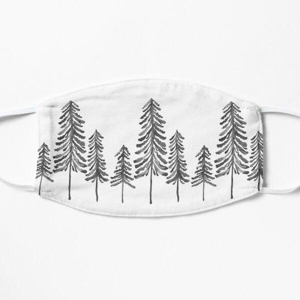 Pine Trees – Black Ink Flat Mask
