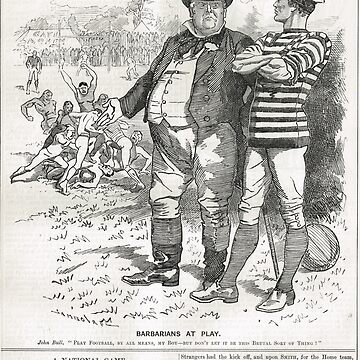John Bull Brutal Rugby satire Punch 1888 by artfromthepast