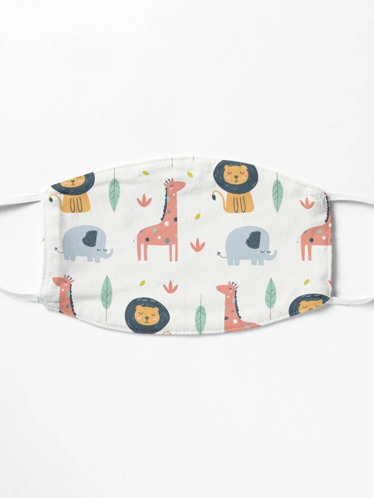 Alternative Ansicht von Niedliches Safari Tier Design Geschenk mit Elefant, Giraffe und Löwe Maske