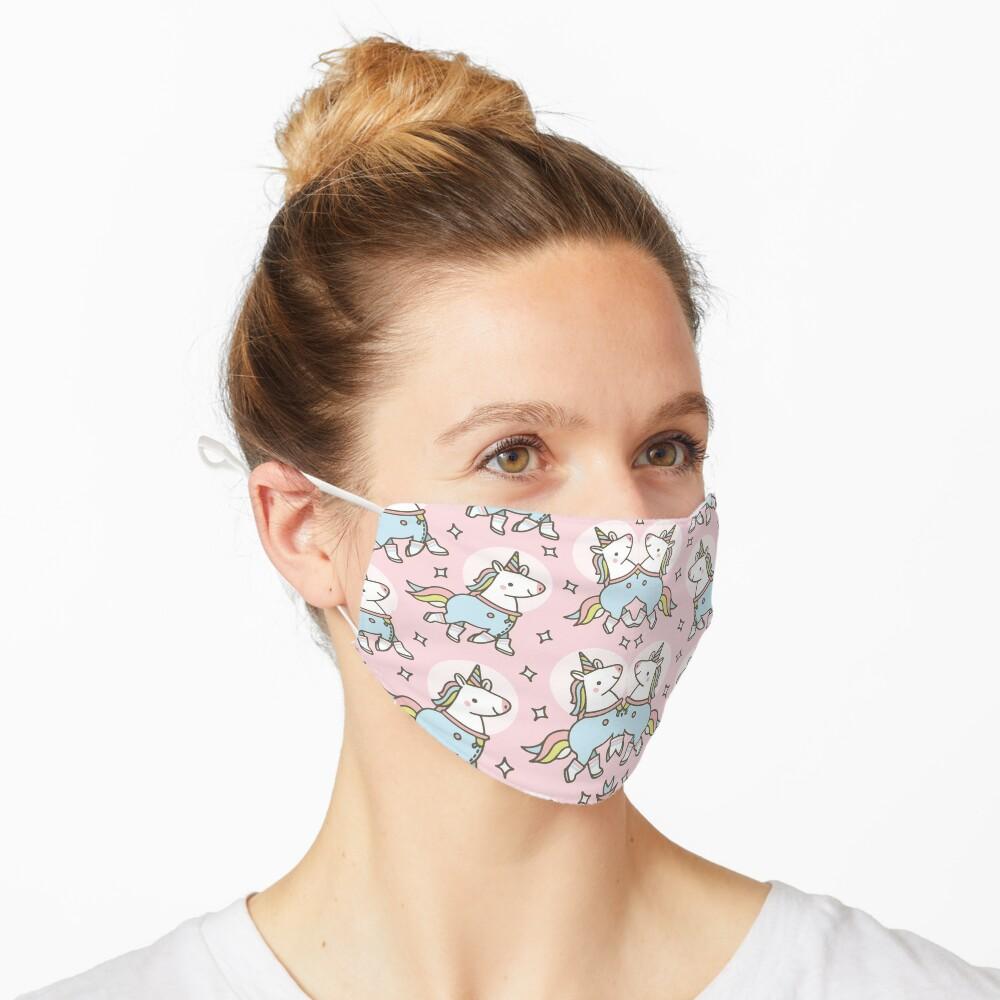 Niedliches Einhorn Design Geschenk mit Einhorn Muster Maske