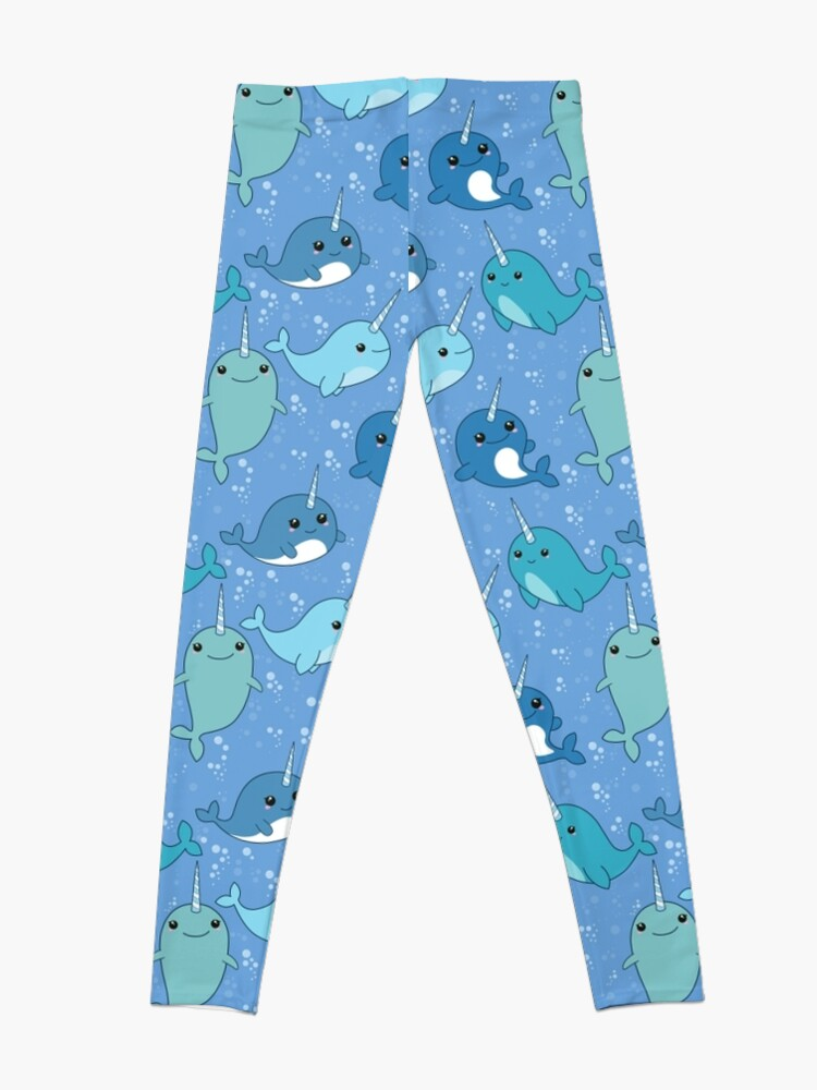Alternate view of Narwhal Pattern Leggings