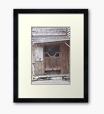 the saloon Framed Print