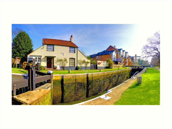 Thames Lock - Weybridge - Panorama by Colin  Williams Photography