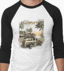 SURF SUNSET Men's Baseball ¾ T-Shirt