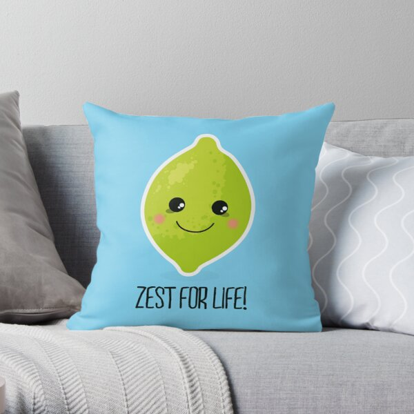 Zest for life! Throw Pillow