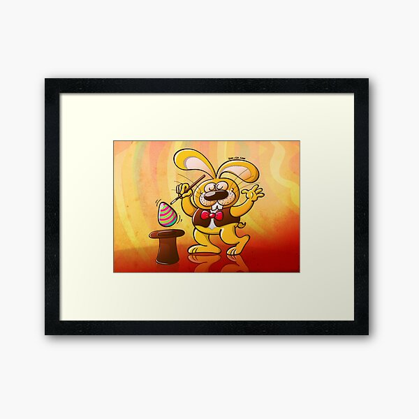 Magician Easter Bunny Framed Art Print