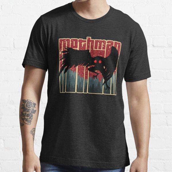 Retro Mothman - Cool Vintage Cryptid Cartoon - Original Artwork Essential T-Shirt