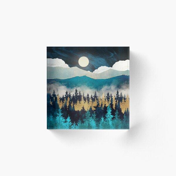Evening Mist Acrylic Block