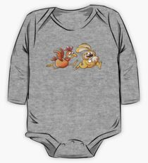 Easter Bunny Stealing an Egg from a Furious Hen One Piece - Long Sleeve