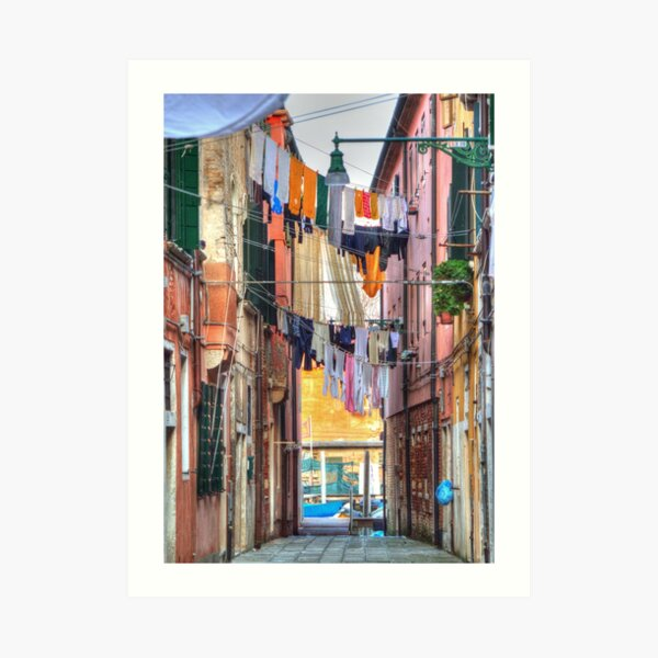 Clotheslines In Venice Italy Art Print